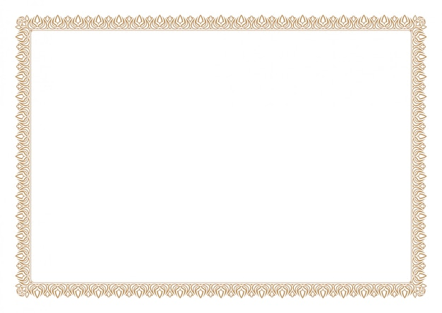 Бланк сертификата