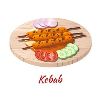 Кебаб известная еда мусульманских