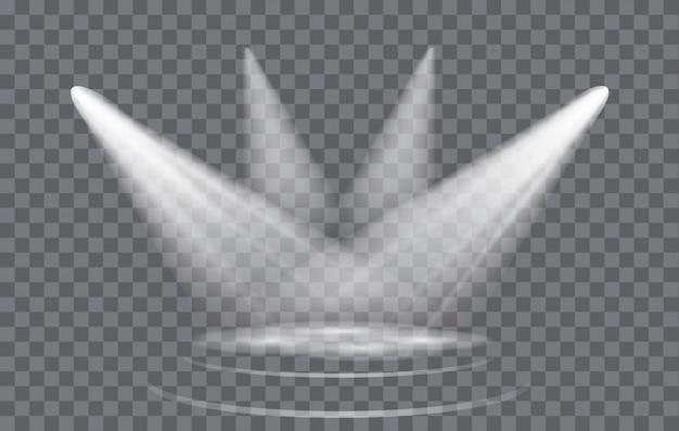 背景が透明なライト効果スポットライト