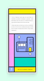 トレンディな新しいファットラインスタイルの視覚的アイデンティティレトロスタイルの幾何学的デザイン