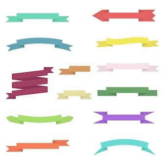 Набор цветных лент, изолированные