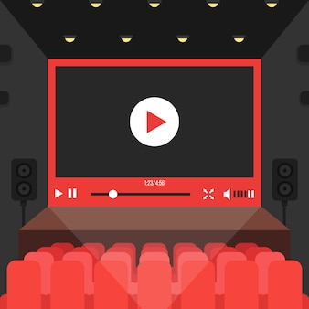 映画館でのオンラインビデオ