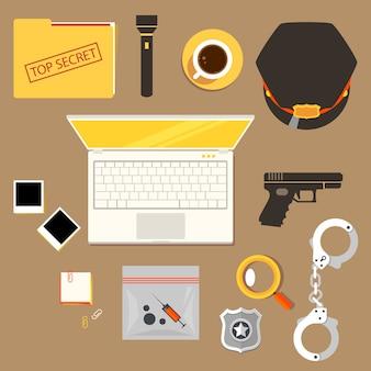 役員、警官の創造的な職場