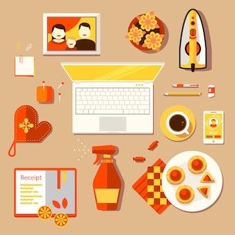 主婦の創造的な職場