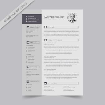 編集可能な履歴書形式のダウンロード