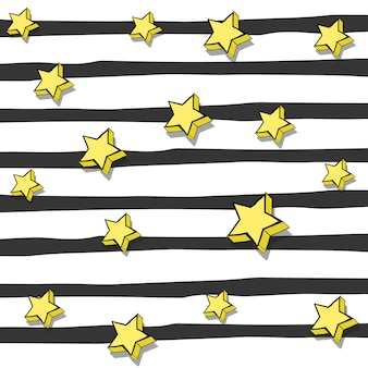 Дизайн полос и звезд