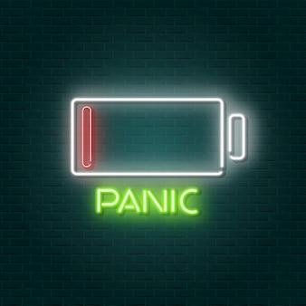 Низкий заряд батареи неоновая вывеска