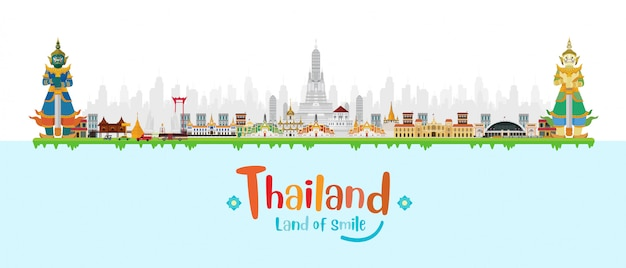 タイのガーディアンジャイアントとランドマーク、
