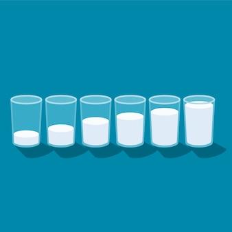 ガラス牛乳
