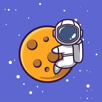 スペースマスコットイラストでかわいい宇宙飛行士