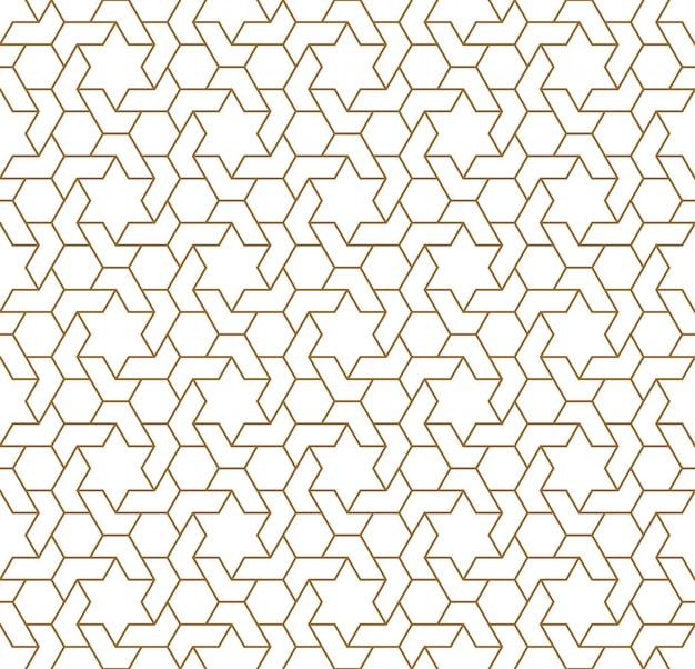 Бесшовные арабский геометрический орнамент коричневого цвета.