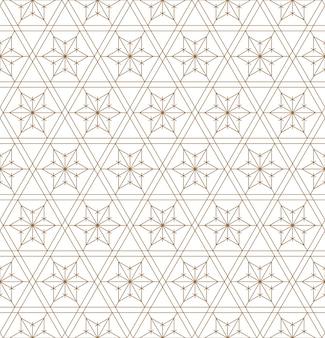 和風組子に基づくシームレスな幾何学模様。