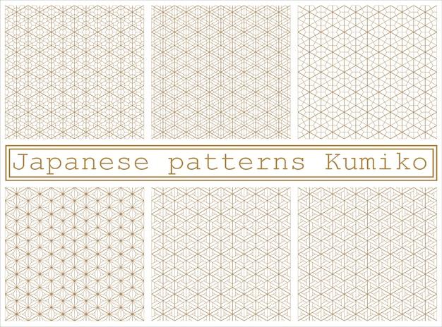 Бесшовные геометрический рисунок на основе традиционного японского стиля кумико
