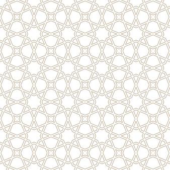 茶色のシームレスなアラビア語の幾何学的な飾り。アラビア風。