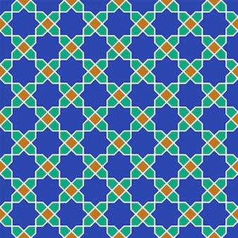 伝統的なアラビア美術に基づくシームレスなアラビア幾何学的な飾り。