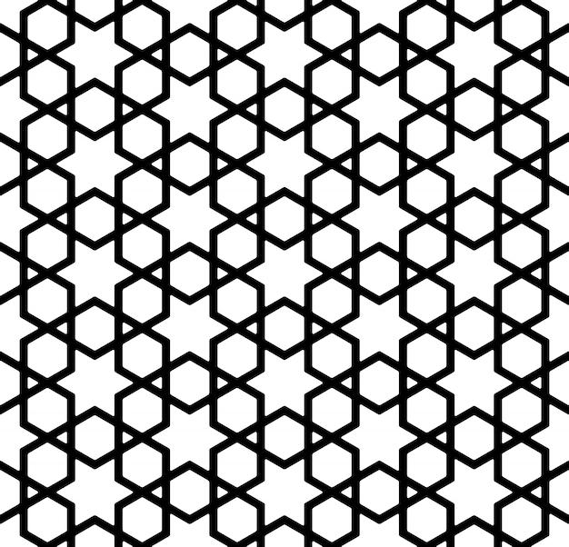 太い線で黒と白のシームレスパターン。