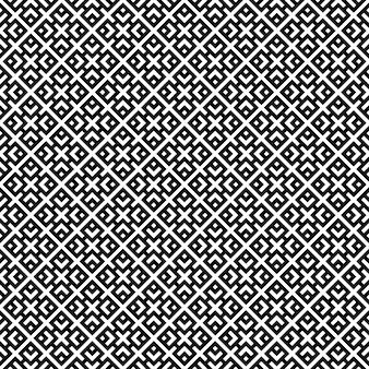 白地に黒のシンプルな形のシームレスな幾何学模様