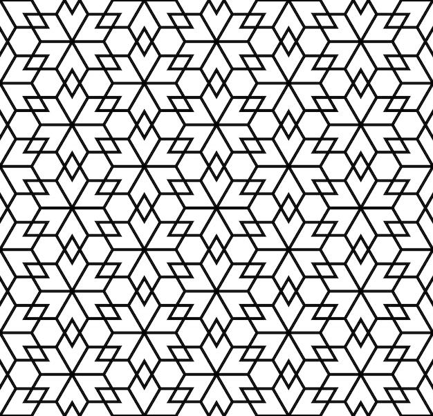 白と黒のシームレスパターン