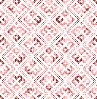 伝統的なロシアとスラブの飾りに基づくシームレスパターン