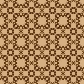 伝統的なアラビア美術に基づくシームレスな幾何学的な飾り