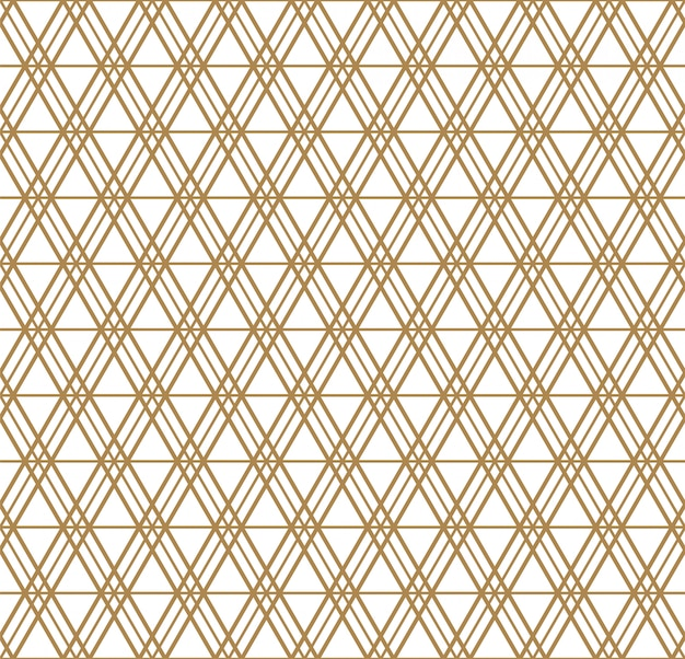 日本の組子飾りに触発されたシームレスな幾何学模様。
