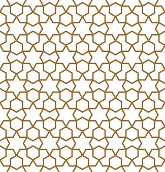 Безшовный традиционный арабский геометрический орнамент в коричневом цвете.