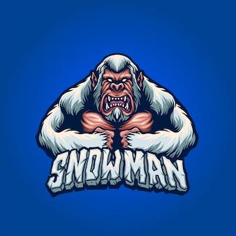 怒っている雪だるま