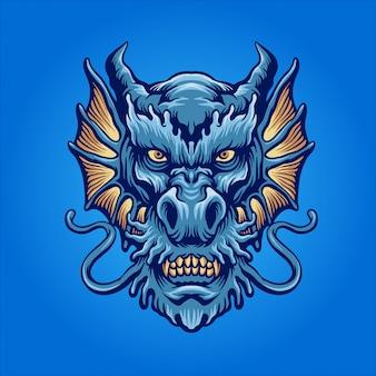 青い水のドラゴン