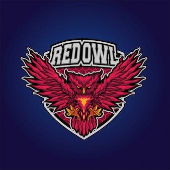 赤いフクロウ