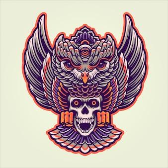 神話のフクロウ