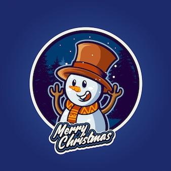 クリスマスの幸せな雪だるま
