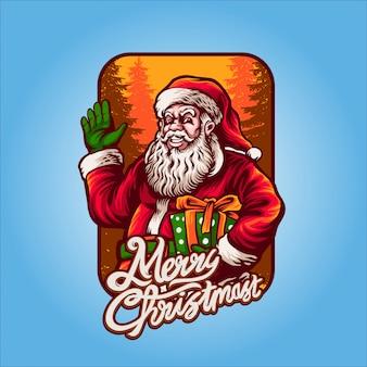 サンタクロースクリスマスの準備ができて
