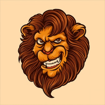Голова персонажа из мультфильма льва