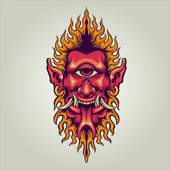 片目悪魔の図