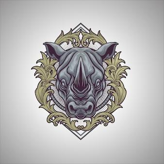 Носорог орнамент