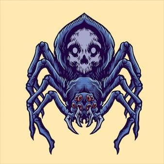 Иллюстрация паука черепа
