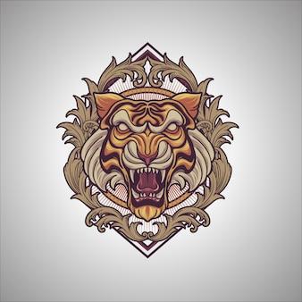 Тигр орнамент