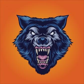 野生のオオカミ