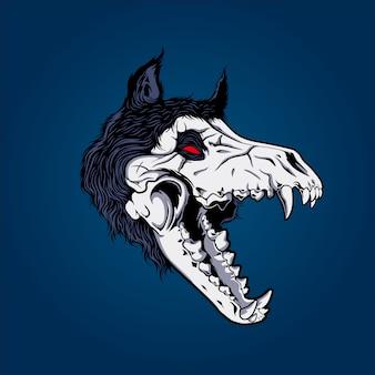 オオカミの頭蓋骨