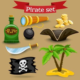 海賊の要素のセット