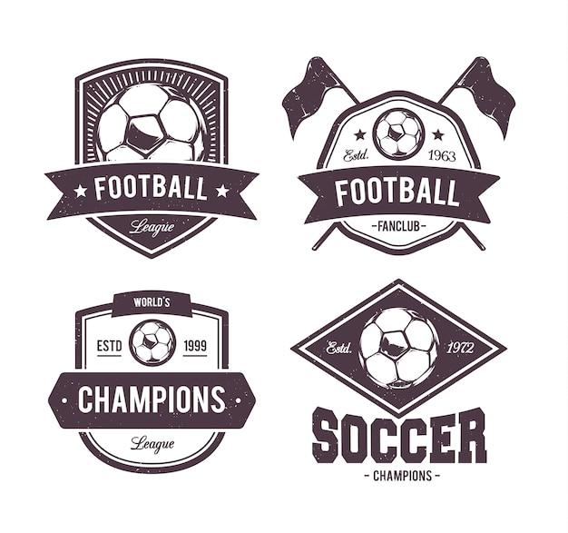 フットボールのエンブレムコレクション