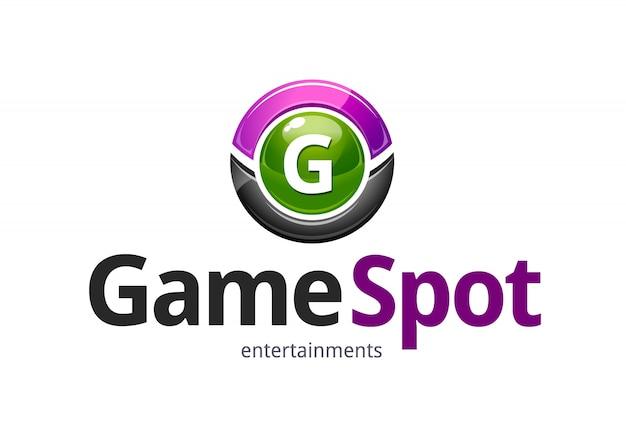Современный логотип с кругом
