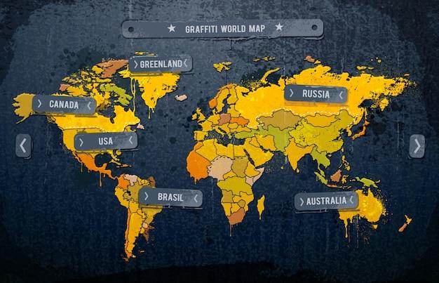 世界地図のインフォグラフィックデザイン