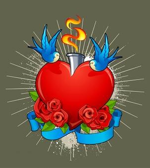 心臓の背景のデザイン
