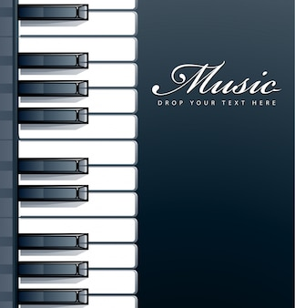 ピアノの背景デザイン