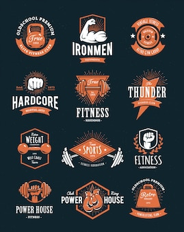 Коллекция спортивных логотипов