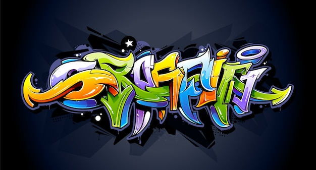 Дизайн граффити на стене