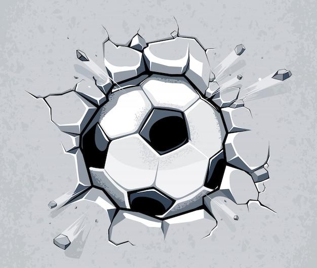 手描きのサッカーの背景