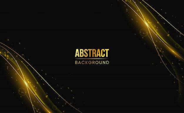 モダンな黄金の抽象的な背景