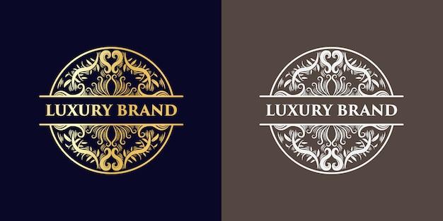 黄金の豪華なロゴのデザインテンプレート